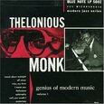 MONK, THELONIOUS - GENIUS OF MODERN MUSIC 1  (Compact Disc)